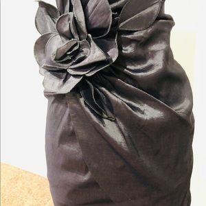 GORGEOUS SHEENY GUNMETAL COCKTAIL DRESS